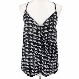 Dynamite Heart Top Small Black White Patterned